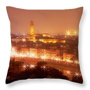 Arno River Florence Italy Throw Pillow