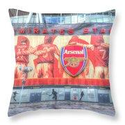 Arsenal Football Club Emirates Stadium London Throw Pillow