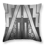 Art Deco Door Throw Pillow
