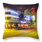 Art Deco In Miami Throw Pillow