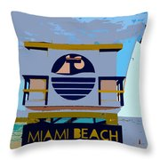 Art Deco Lifeguard Stand Throw Pillow