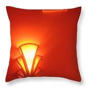 Art Deco Light Exit Sign Fox Tucson Theater Tucson Arizona 2006 Throw Pillow