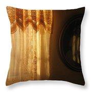 Art Homage Edward Hopper Winter Light  Window Curtain Reflection Bedroom Casa Grande Arizona 2005  Throw Pillow