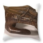 Artificial Left Hand, C. 1880 Throw Pillow