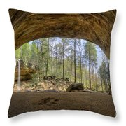 Ash Cave Waterfall Throw Pillow