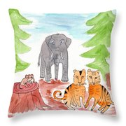 Ashdown Forest, Sussex, England Throw Pillow