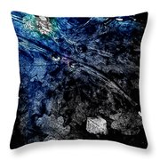 Leaves Under Ice Throw Pillow