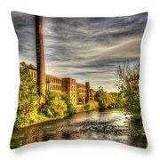 Ashton Mill, Cumberland, Ri Throw Pillow