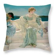 Ask Me No More Throw Pillow by Sir Lawrence Alma-Tadema