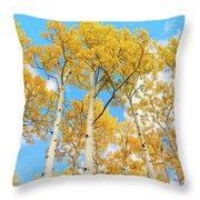 Aspens Above Throw Pillow