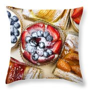 Assorted Tarts And Pastries Throw Pillow