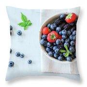 Assortment Of Berries Throw Pillow