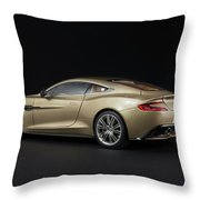 Aston Martin Vanquish Throw Pillow