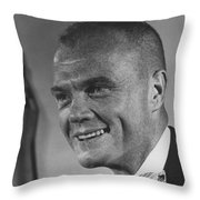 Astronaut John Glenn Throw Pillow
