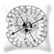 Astronomical Clock Throw Pillow