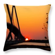 At The End Of The Bridge Throw Pillow