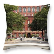 At The National Law Enforcement Officers Memorial In Washington Dc Throw Pillow