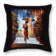 At The Steps Throw Pillow