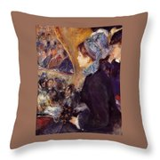 At The Theatre Throw Pillow
