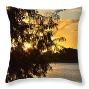 Atardecer En Hialeah Throw Pillow