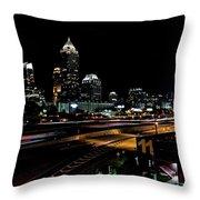 Atlanta Expressway Throw Pillow