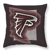Atlanta Falcons Logo T-shirt Throw Pillow
