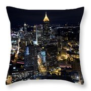 Atlanta Georgia - Evening Commute Throw Pillow