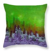 Atlanta Skyline 4 Throw Pillow