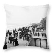 Atlantic City: Boardwalk Throw Pillow