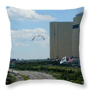 Atlantic City Skyline Throw Pillow