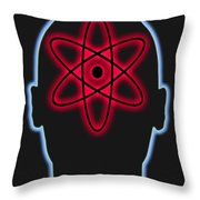 Atom Diagram Throw Pillow