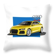 Audi Sport Quattro Concept With 3 D Badge  Throw Pillow