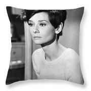Audrey Hepburn (1929-1993) Throw Pillow by Granger
