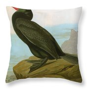 Audubon: Cormorant Throw Pillow