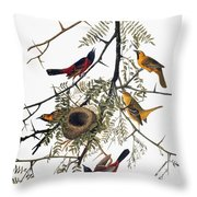Audubon: Oriole Throw Pillow