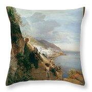 Aufgang Zum Kloster  Throw Pillow
