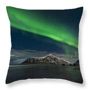Aurora Borealis, Northern Lights Throw Pillow