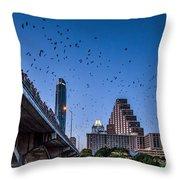 Austin Bat Watch Throw Pillow