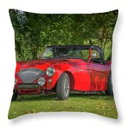 Austin Healey 100 Throw Pillow