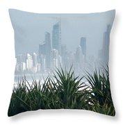 Australia - Surf Mist Shrouds Our View Throw Pillow
