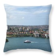 Australia - Kirribilli And Sydney Harbour Bridge Throw Pillow