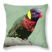 Australian Lorikeet Throw Pillow