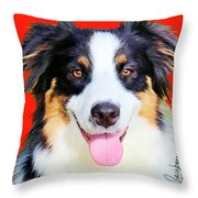 Australian Shepherd 4 Throw Pillow