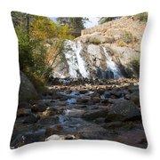Autumn At Helen Hunt Falls Colorado Throw Pillow