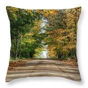 Autumn Backroad  Throw Pillow