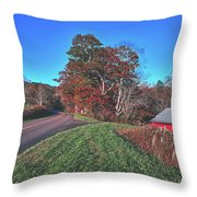 Autumn Countryside - North Carolina Throw Pillow