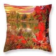 Autumn Garlands Throw Pillow