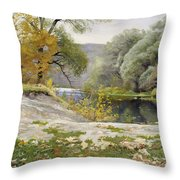 Autumn Landscape In The Vicinity Of Eshar Throw Pillow