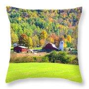 Autumn On The Farm Throw Pillow