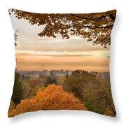 Autumn On The Hill Throw Pillow